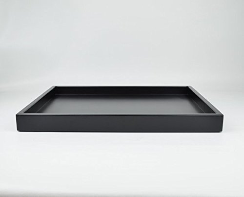 Low Profile Black Large Coffee Table Tray