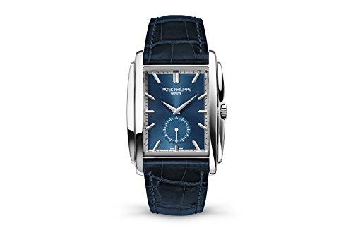 patek-philippe-gondolo-mens-white-gold-watch-blue-leather-strap