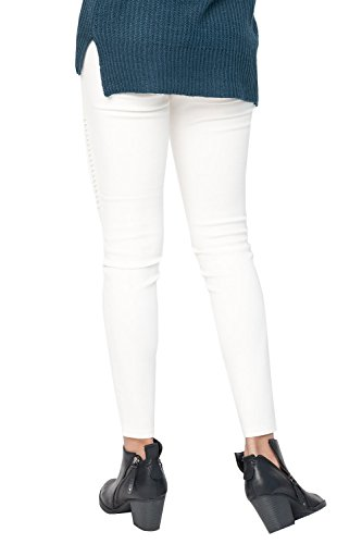 Meilidress Womens High Waist Moto Jeggings Skinny Stretch Ankle Jeans Leggings with Pockets by Meilidress (Image #3)