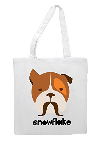 Bag Quote Style White Animal Snowflake Character Dog1 Hipster Tote Shopper Vintage 7U8qTw1P