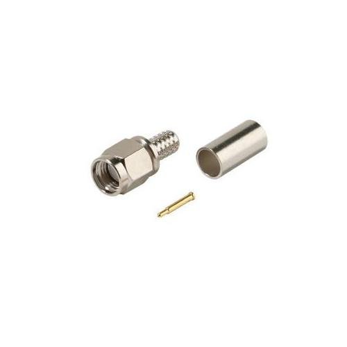 3 Piece SMA Plug Crimp Connector for RG58A