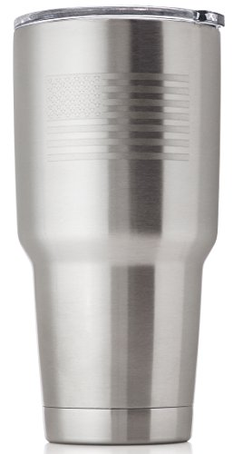 OUTZIE Vacuum Insulated Tumbler 30oz Built From 100% Food Grade Stainless Steel is Safe For All of Your Beverages - Hot or Cold - Etched American Flag Logo - made to last a lifetime by OUTZIE
