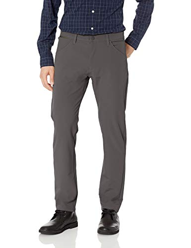 Tech Pants - Dockers Men's Slim Fit Smart 360 Tech Khaki Pants, Storm, 34 30