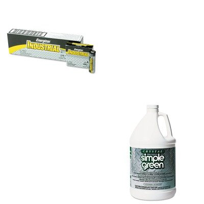 KITEVEEN91SPG19128 - Value Kit - Simple Green All-Purpose Industrial Cleaner/Degreaser (SPG19128) and Energizer Industrial Alkaline Batteries (EVEEN91) by Simple Green (Image #1)
