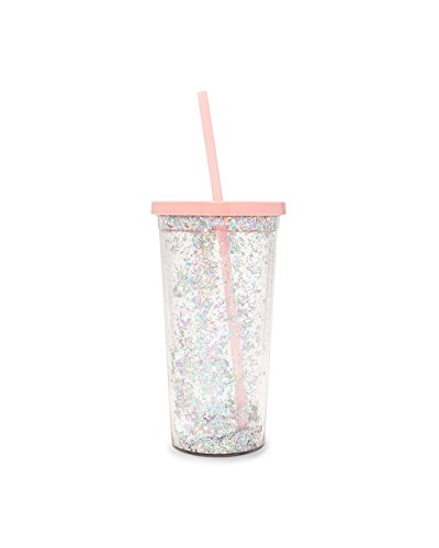 ban.do Women's Deluxe Sip Sip Tumbler with Straw, Glitter Bomb, 20 Ounce by Bando