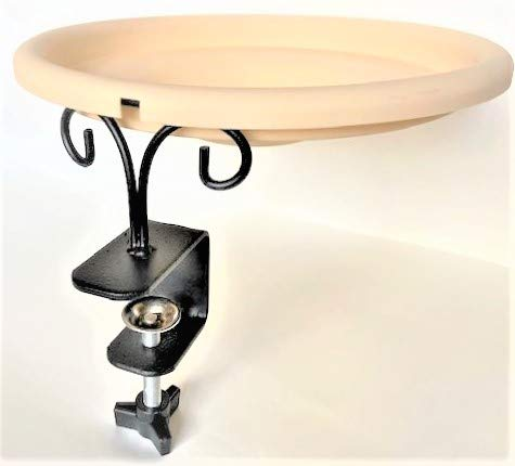 EHF Deck Mounted Songbird and Wild Bird Spa and Bath - with Beige Color Bowl - 1-Quat Water Capacity