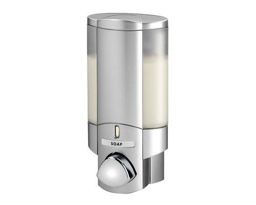 Aviva - Dispenser - Satin Silver finish - Secure adhesive fixing - no screws required Better Living