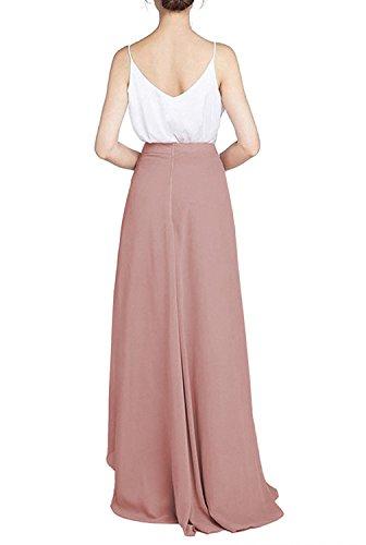 Pour Couturebridal® Jaune Chiffon Été Taille Longue Femme Soirée Plage Elégante Haute Jupe De Mariage Maxi xxHqZ1