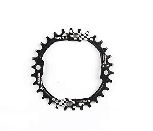 Snail Ultralight Aluminum Alloy 30T Cycling Chainring 104BCD Four Chainring Bolts for Road Bike Mountain Bike BMX MTB Single Chain Ring