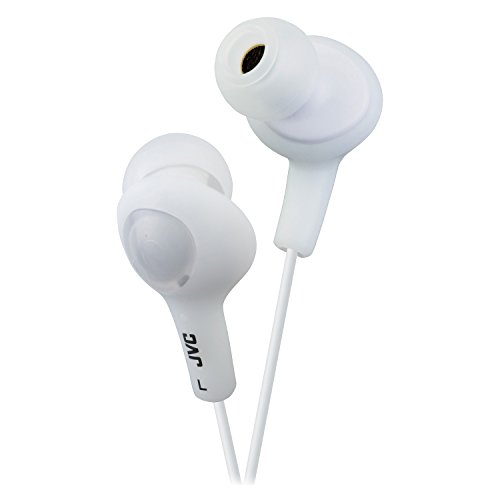 Inner Headphones White Ear - JVC HAFX5W Gumy Plus Inner Ear Headphones (White)