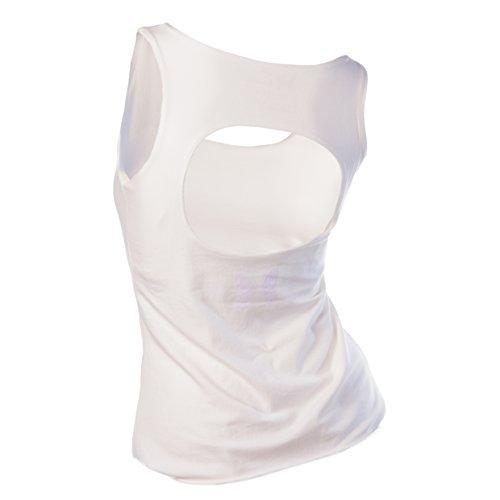 Maria Malo Yoga Top, Camiseta Deportiva para Mujer Beige (Natural)