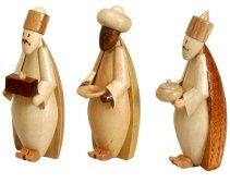 Krippefiguren - natur Drei Könige Höhe ca 6,5 cm NEU Miniaturen Figuren Holz Erzgebirge