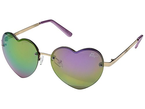 Betsey Johnson Women's BJ475121 Gold/Pink - Shaded Sunglasses