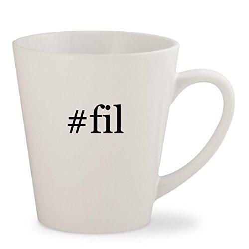 #fil - White Hashtag 12oz Ceramic Latte Mug Cup