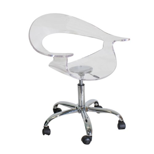 LumiSource Rumor Chair, Clear (Acrylic Chair Rolling)