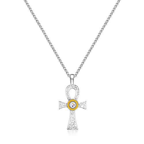 (Pro Specialties Group NFL Pittsburgh Steelers Key of Life Necklace, Silver, 30