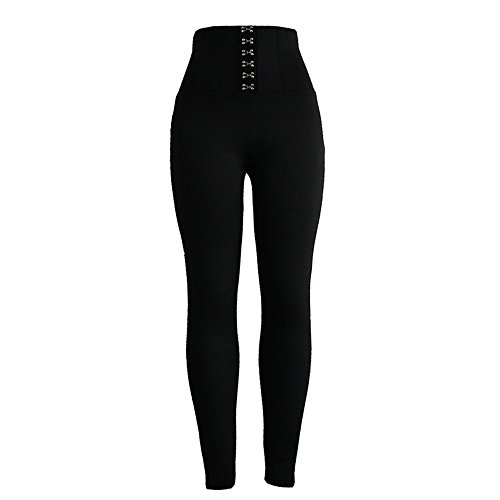Cithy Women's Women's Sports Gym Yoga Running Fitness Leggings Pants Yoga Clothes (S, Black)