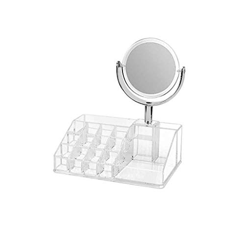 1949shop Acrylic Mirror Dormitory Dormitory Dresser Desktop Desktop Magnifying Beauty Student Admission Small Round Double-Sided Makeup Mirror Rotating Mirror Xuan - Worth Having