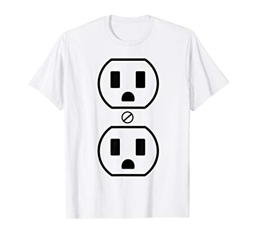 Electrical Outlet Halloween Costume Easy Funny Simple Outfit T-Shirt]()