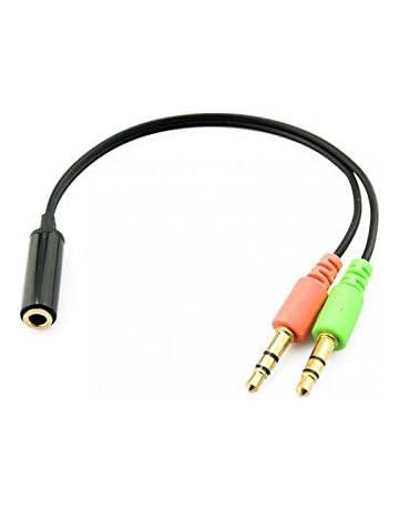 Shiwaki Cable De Cable Convertidor De Adaptador De Micr/ófono TRS-TRRS De 3.5 Mm para iPhone Android