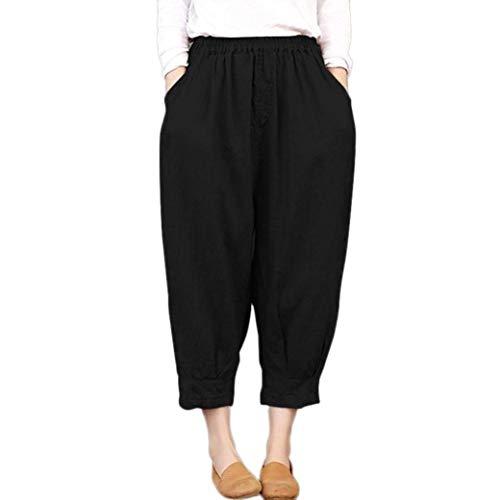 Schwarz Capris Casuales Mujeres Joggers Diseñador Harem Para Pantalones Elastic Mujer Ancho High Boyfriend Relajado Jogging Pitillo Yoga Jersey Suelto Pantalón H4Fx1w