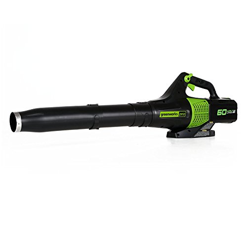GreenWorks Pro 60-Volt Max Lithium Ion (Li-ion) 540-CFM 140-MPH Heavy-Duty Brushless Cordless Electric Leaf Blower (TOOL ONLY, Battery & Charger Not Included) by Greenworks