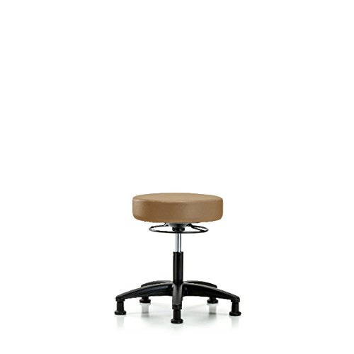 Vinyl Desk Height Stool - Nylon Base, Glides, Taupe Vinyl by Ecom Seating (Image #1)