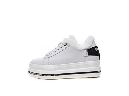 SpongeBob zapatos zapatos de suela gruesa los estudiantes coreanos caliente y agregar el cashmere calzado de invierno White black