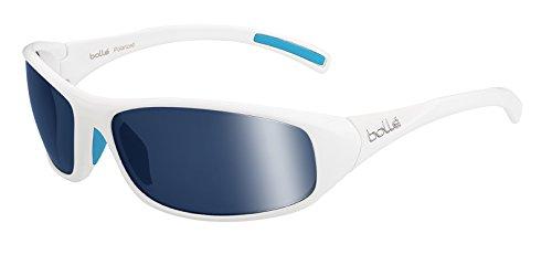 Bollé Crest Lunettes de soleil Homme Shiny White Polarized Offshore Blue Oleo AR