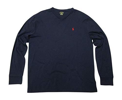 Polo Ralph Lauren Mens Long Sleeve V Neck Tshirt (X-Large, ()