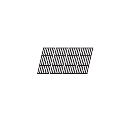 Music City Metals 66024 Gloss Cast Iron Cooking Grid Replacement for Select Gas Grill Models by Broil-Mate, Huntington and Others, Set of 4 (Broilmate Gas Grill)