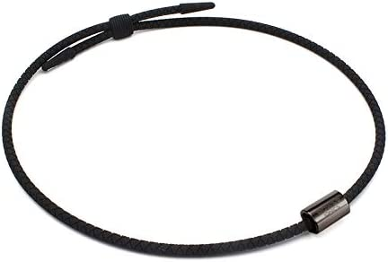 POWER IONICS 新しいエネルギーネックレス カップルファッション鎖骨チェーン誕生日プレゼント (ブラック, ガングレーアクセサリー)