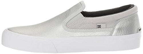 DC Women's Trase Slip-on SE Skateboarding Shoe, Silver, 8.5 B US by DC (Image #5)