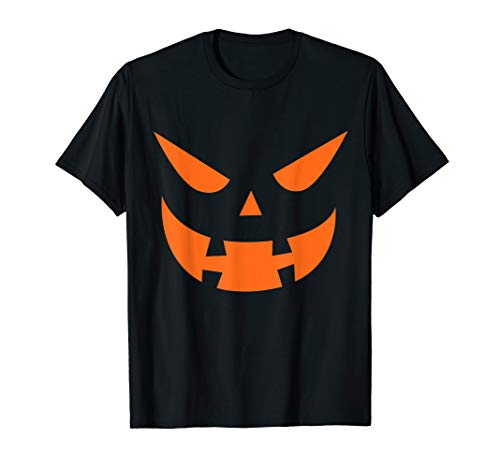 Jack O Lantern Pumpkin Face Scary Halloween Costume  T-Shirt