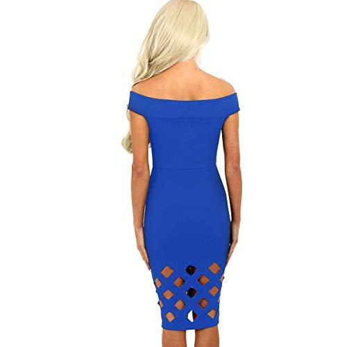 Basse Bandoulire Haute Creuse Genou Taille Robe de Bleu Taille rrYn0x