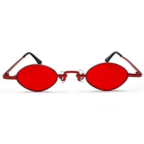Gflotusas Small Oval Sunglasses Women Trendy Vintage Metal Sun Glasses Men Steampunk Goggles Mirror Eyewear UV400 Gold