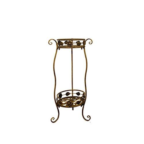 YAN JUN-Pflanzenregale Mensola Fiore in Ferro Stanza da Soggiorno in Stile Europeo Balcone sul Pavimento del Balcone (Dimensioni   nero Small Code)