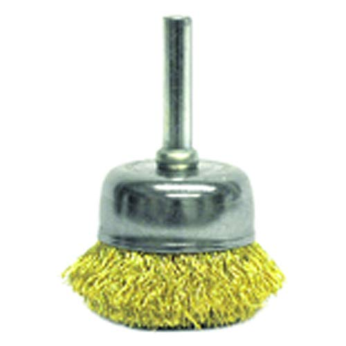 13/4? Crimped Wire Cup - Brush, 0.0118? Brass, 1/4? Stem - Non-Sparking Wire Wheel (Pack of 5)