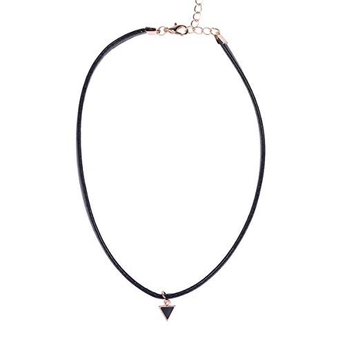 - Vosarea Punk Rope Necklace Choker Leather Rope Choker Jewelry Clavicle Necklace for Women Ladies