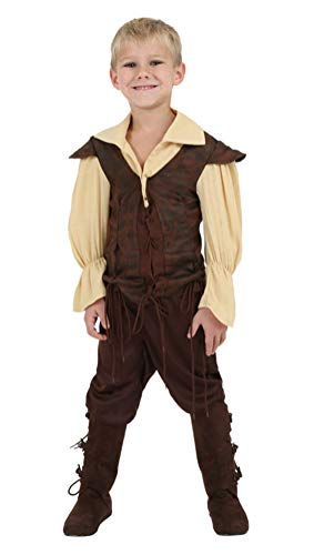 Renaissance Squire Costume Baby Boys, Toddler Halloween Peasant Cosplay Outfit (Tag Size-4T)