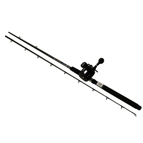 (Okuma Great Lakes Trolling Combo, 30Dxt, 2BB Bearings, 9' Length, 2Piece Rod, Medium/Heavy Action)