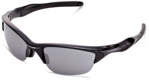 Oakley Men's Half Jacket 2.0 OO9153-01 Rectangular Sunglasses, Polished Black, 62 mm by Oakley