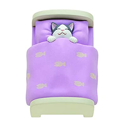 Kitan Club Cat in A Bed Plastic Toy- Blind Box Includes 1 of 5 Collectable Figurines - Fun, Versatile Decoration - Authentic Japanese Design - Made from Durable Plastic: Toys & Games
