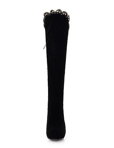XZZ  Damenschuhe - Stiefel - Kleid   Lässig Lässig Lässig - Vlies - Stöckelabsatz - Plateau   Rundeschuh   Modische Stiefel - Schwarz   Grün B01L1GPR5O Sport- & Outdoorschuhe Rechtzeitige Aktualisierung a4edfd