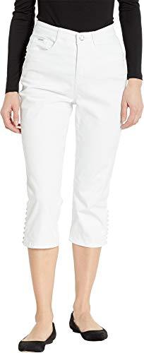 FDJ French Dressing Jeans Women's Statement Denim Multi Pearl Detail Suzanne Capris in White White 8 21