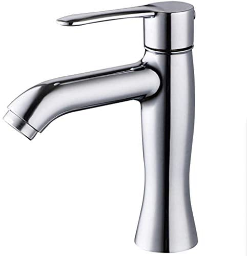 S-TING 蛇口 バスルームのシンクの蛇口のすべての銅単穴ホットとコールド洗面台の蛇口、ステンレス鋼、A 水栓金具 立体水栓 万能水栓