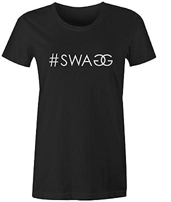 fd822f643e8 SWAG Womens T Shirt Chanel Gucci Inspired Fashion Tee Top  Amazon.co ...