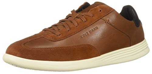 Cole Haan Men's Grand Crosscourt Turf Sneaker, British tan Leather 11.5 M US - Leather Oxford Sneakers