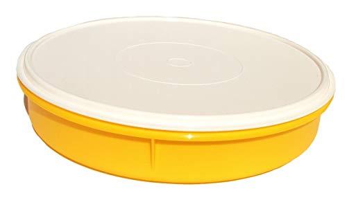 Tupperware Pie Cupcake Keeper Orange 12 Inch Round Container