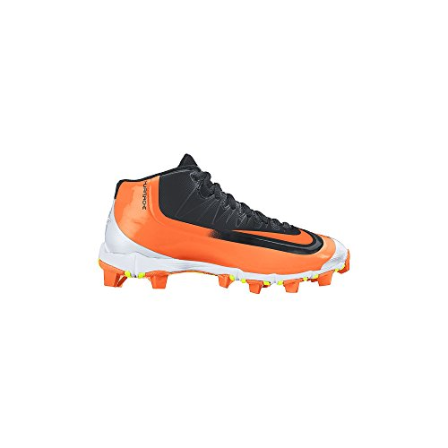 (NIKE Boy's Huarache 2KFilth Keystone (GS) Baseball Cleat Black/White/Game Orange Size 2 M US)